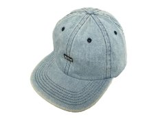 画像1: KITH NYC MINI BOX STRAPBACK CAP【WASH DENIM】 (1)