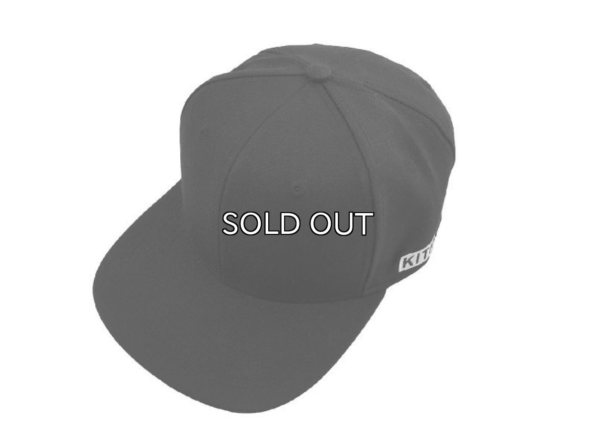 画像1: KITH NYC BOX SIDE LOGO SNAPBACK CAP【BLACK】 (1)