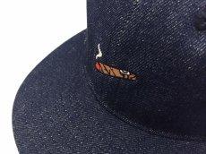 画像2: EBBETS FIELD FLANNELS X BREAKS CIGAR DENIM BASEBALL CAP (2)