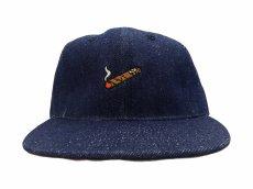 画像3: EBBETS FIELD FLANNELS X BREAKS CIGAR DENIM BASEBALL CAP (3)
