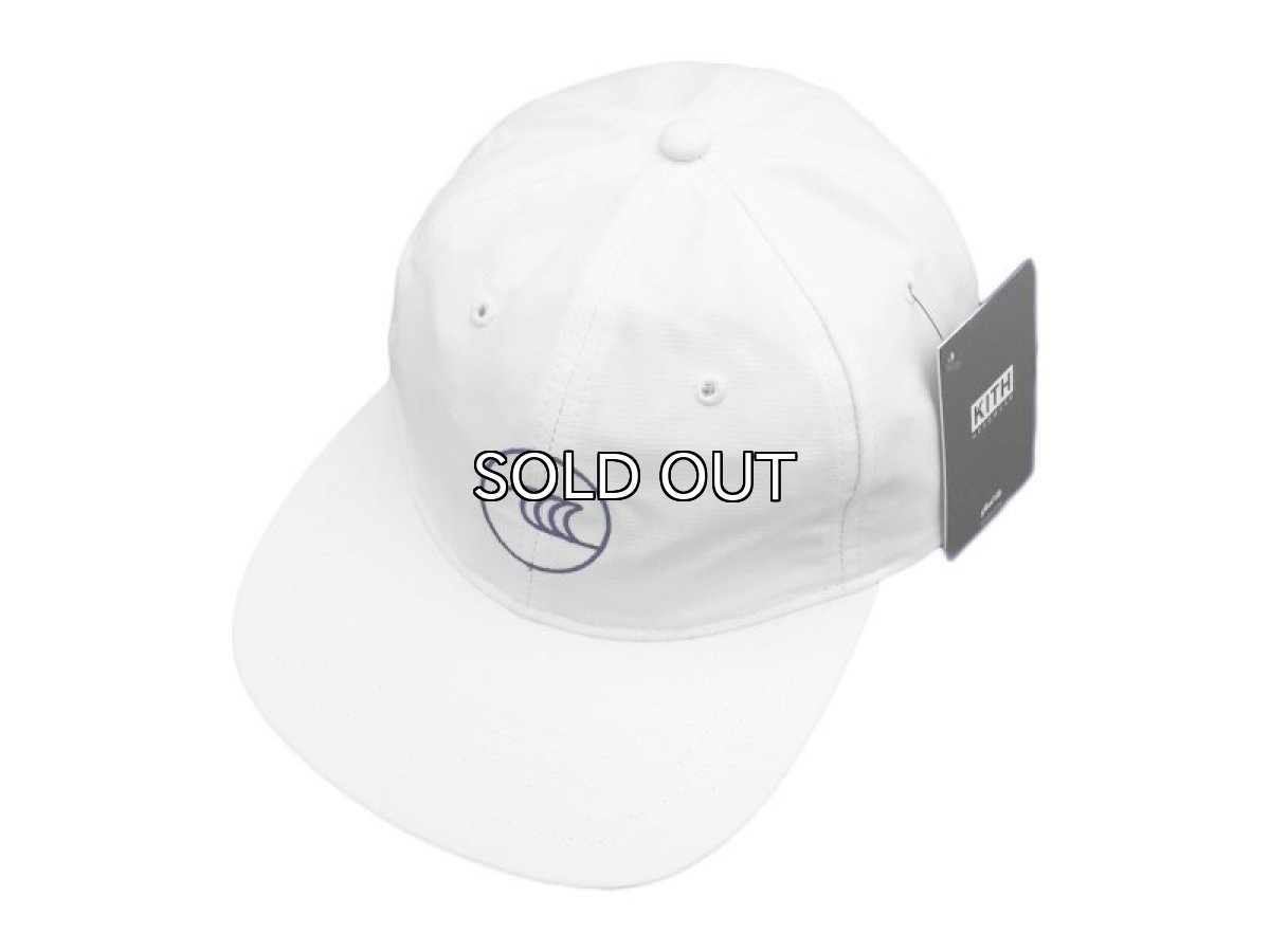 画像1: KITH NYC WAVE STRAPBACK CAP【WHITE/NAVY】 (1)