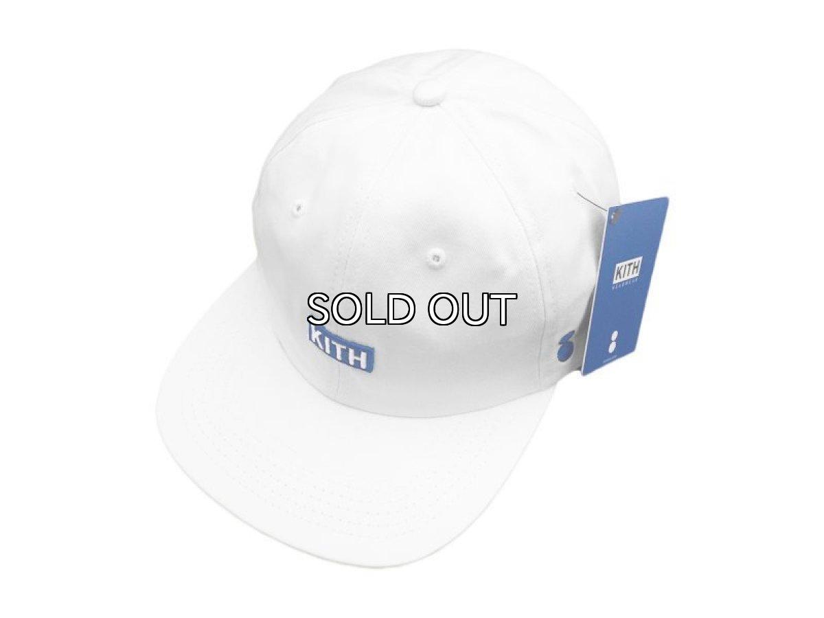 画像1: KITH NYC X COLETTE BOX LOGO STRAPBACK CAP【WHITE/BLUE】 (1)
