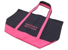 画像1: Brooks Brothers CANVAS TOTE BAG【NAVY/PINK】 (1)