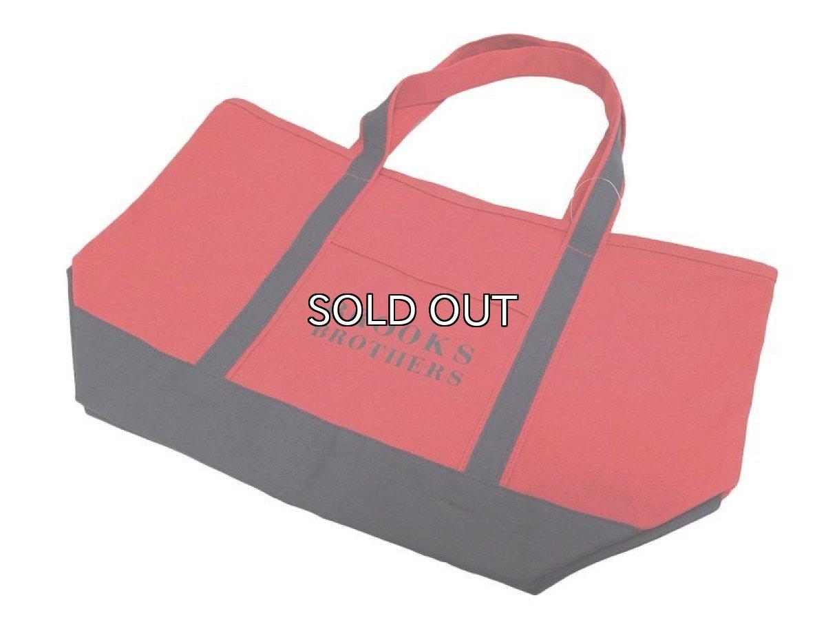 画像1: Brooks Brothers CANVAS TOTE BAG【RED / NAVY】 (1)