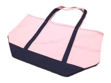 画像2: Brooks Brothers CANVAS TOTE BAG【PALE PINK/NAVY】 (2)