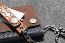 画像4: RRL RYDER CHAIN LEATHER WALLET (4)