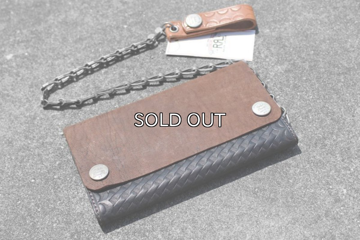 画像1: RRL RYDER CHAIN LEATHER WALLET (1)
