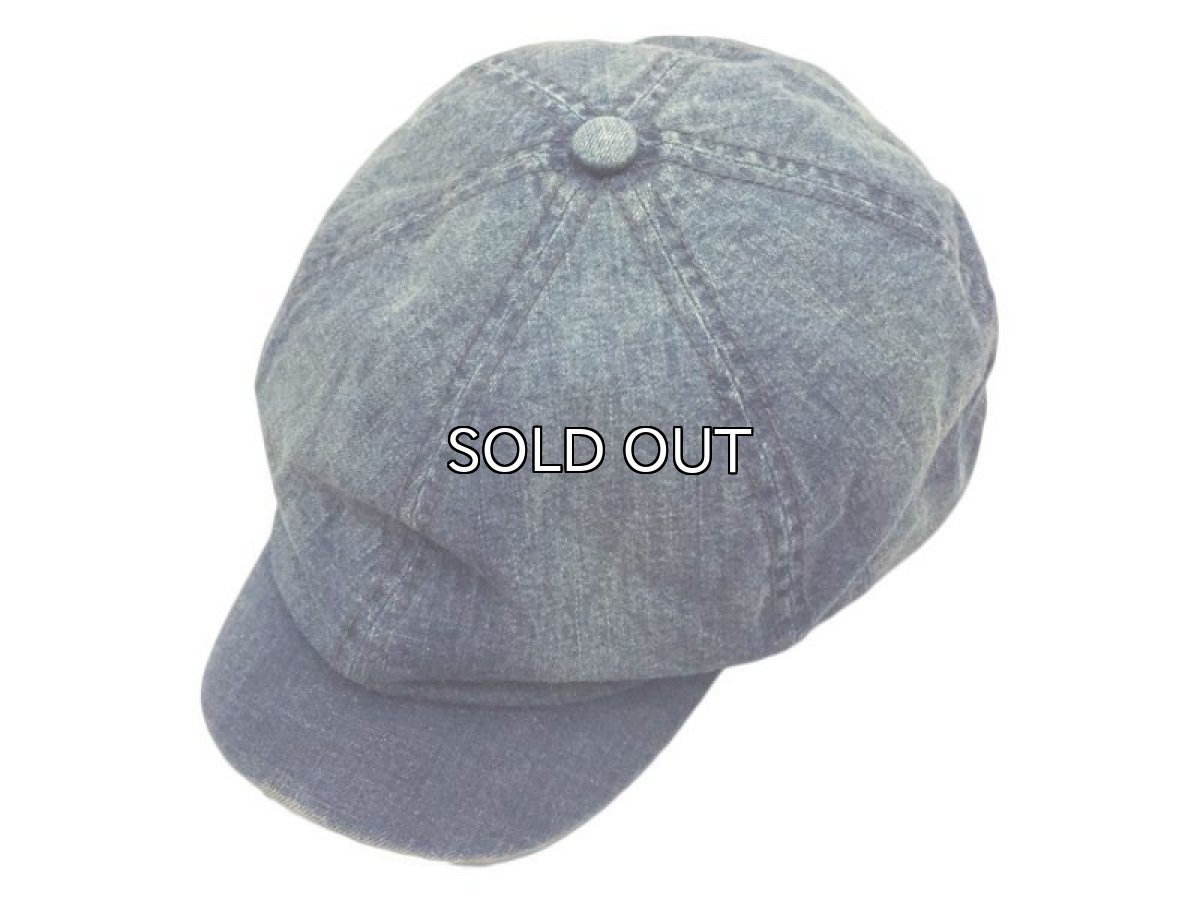 画像1: RRL DENIM NEWSBOY CAP (1)