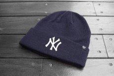画像1: '47 BRAND MLB NEW YORK YANKEES CUFF KNIT BEANIE【NAVY】 (1)