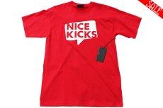 画像1: NICE KICKS BALLOON LOGO TEE【RED】 (1)
