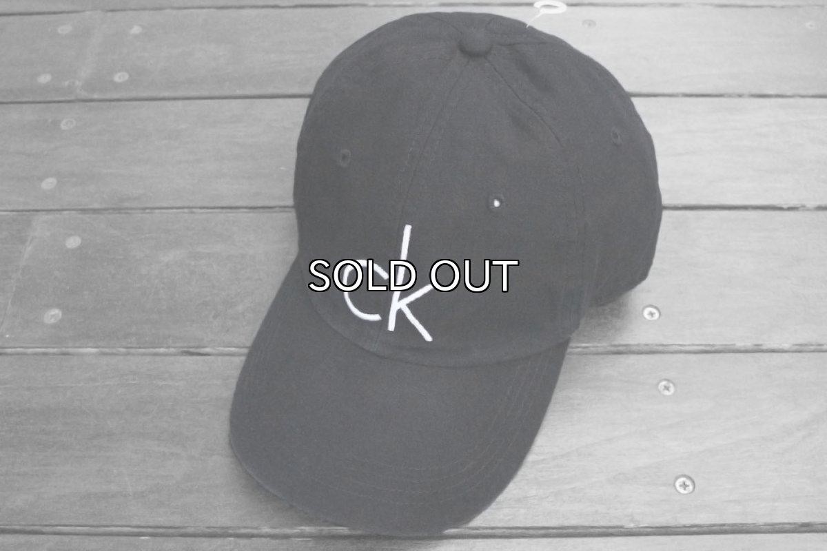 画像1: CALVIN KLEIN CK LOGO BASEBALL CAP (1)