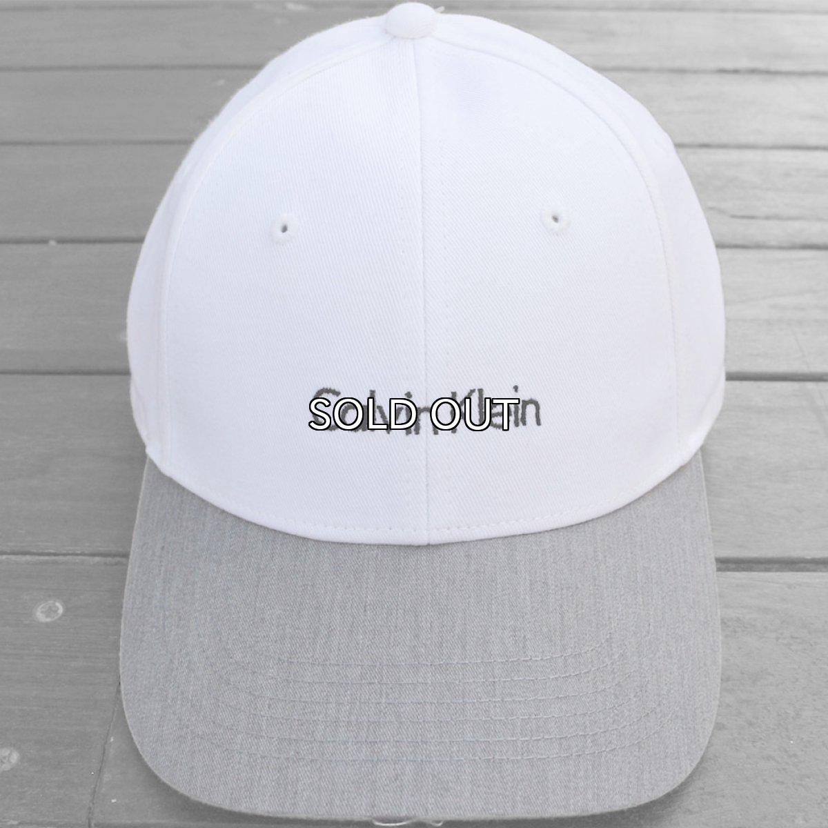 画像1: CALVIN KLEIN 2TONE LOGO CAP (1)