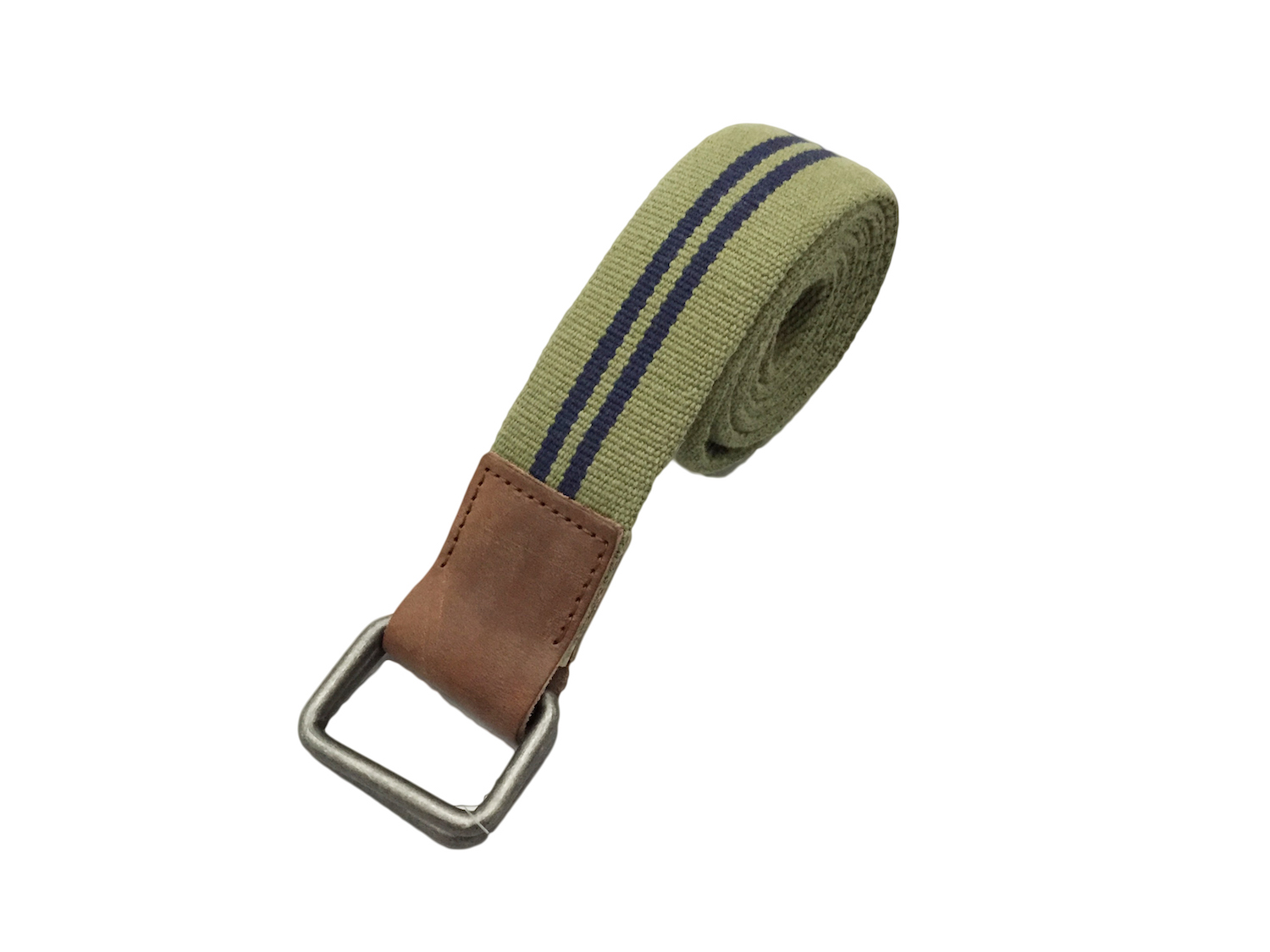画像1: J.CREW COTTON RING BELT【OLIVE】 (1)