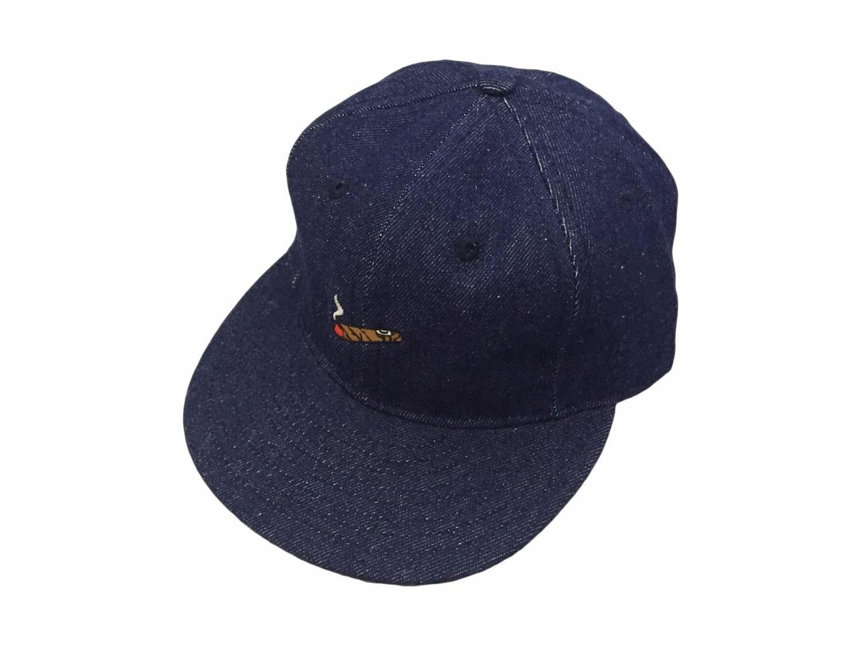画像1: EBBETS FIELD FLANNELS X BREAKS CIGAR DENIM BASEBALL CAP (1)