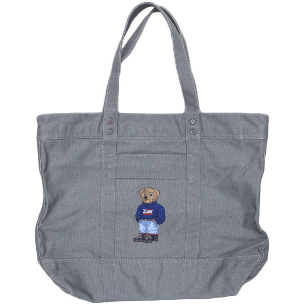 Polo Ralph Lauren Bear Canvas Tote Bag Breaks General Store