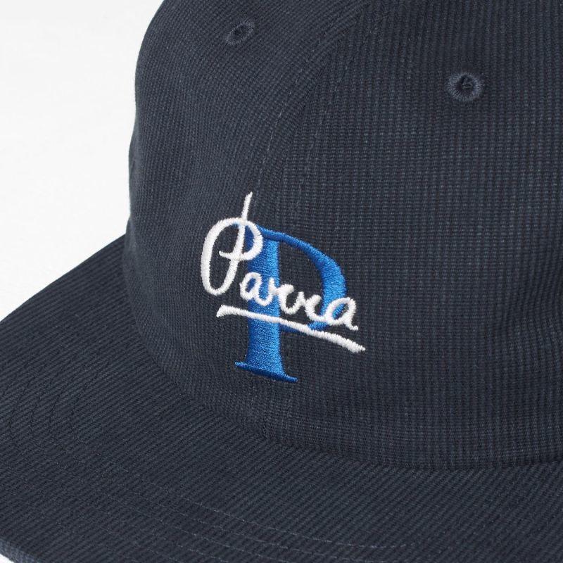 542067b65eb BY PARRA 6 PANEL HAT PAINTERLY SCRIPT  NAVY BLUE