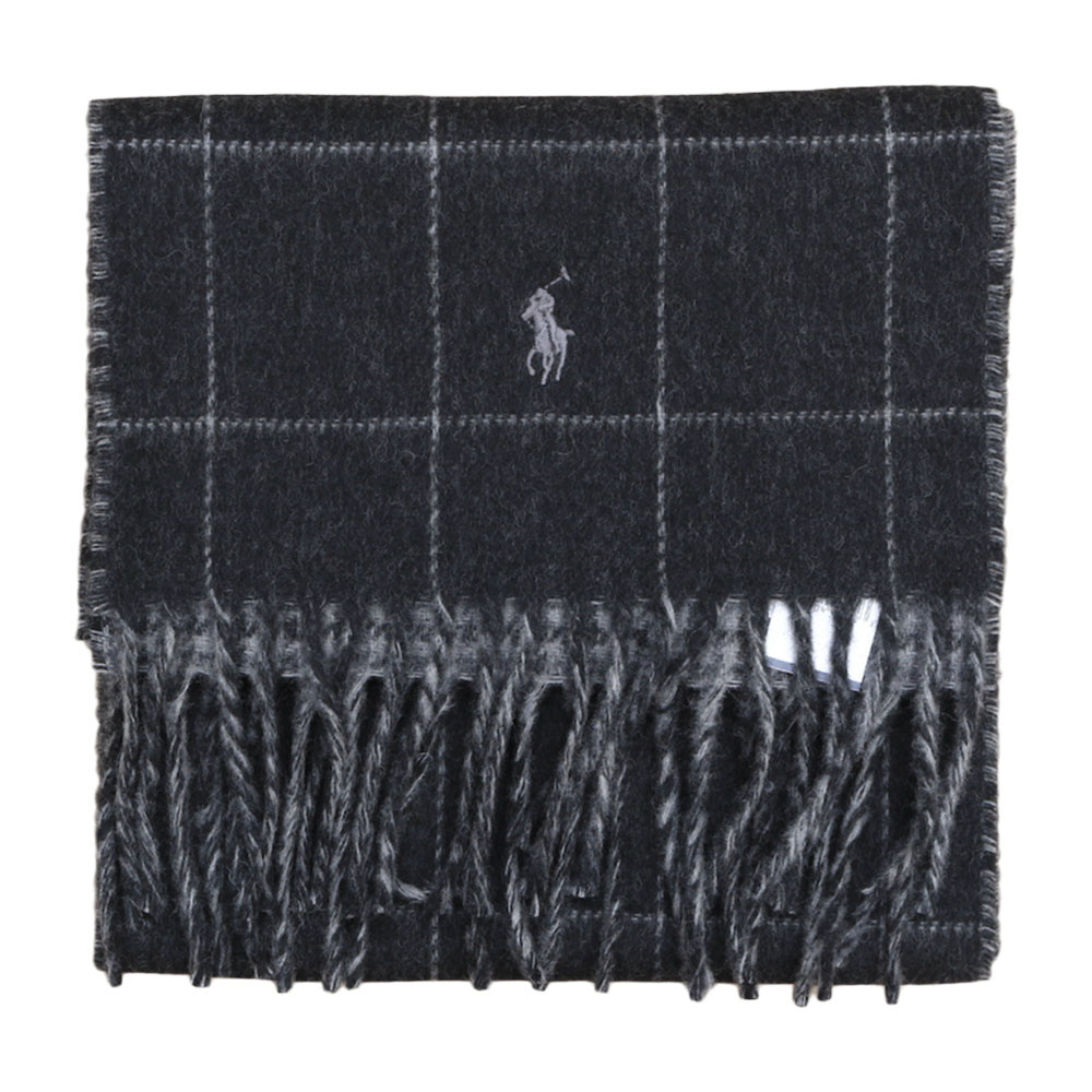 画像1: POLO RALPH LAUREN VIRGIN WOOL REVERSIBLE MUFFLER (1)