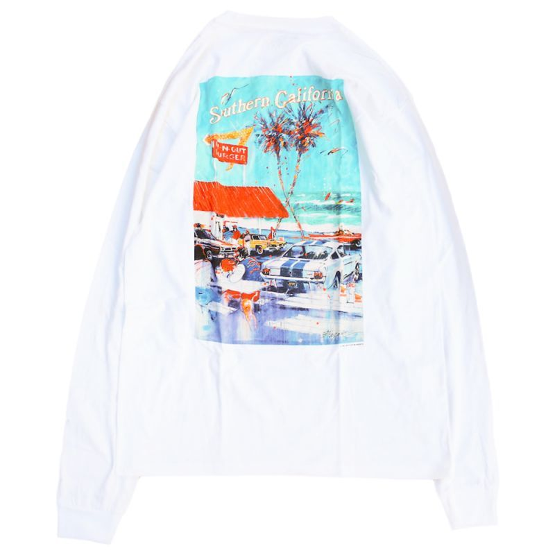 画像1: IN-N-OUT BURGER AT THE BEACH L/S TEE (1)