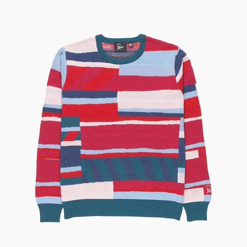 画像1: BY PARRA PREMIUM STRIPES KNITTED PULLOVER (1)